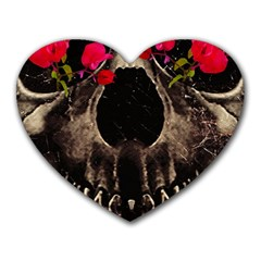 Death And Flowers Mouse Pad (heart)