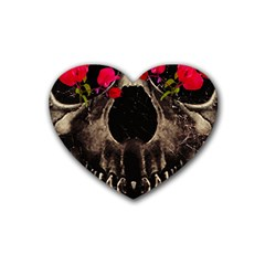 Death And Flowers Drink Coasters (heart)