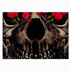 Death And Flowers Glasses Cloth (large)