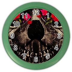 Death and Flowers Wall Clock (Color)