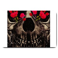 Death and Flowers Large Door Mat