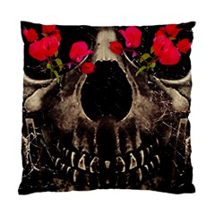 Death and Flowers Cushion Case (Two Sided)