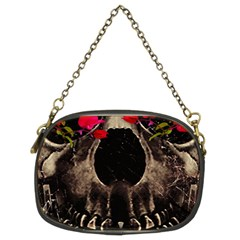Death And Flowers Chain Purse (two Sided)