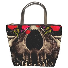 Death And Flowers Bucket Handbag