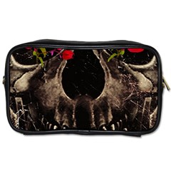 Death And Flowers Travel Toiletry Bag (two Sides)