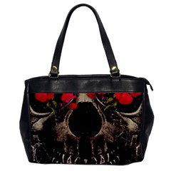Death And Flowers Oversize Office Handbag (one Side)