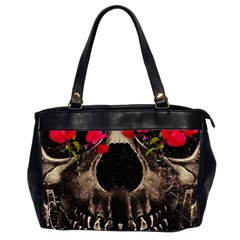 Death And Flowers Oversize Office Handbag (two Sides)