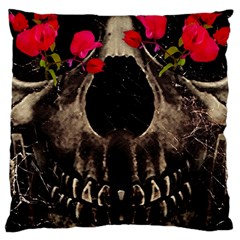 Death And Flowers Large Cushion Case (single Sided)