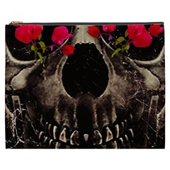 Death and Flowers Cosmetic Bag (XXXL)