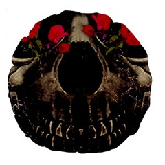 Death and Flowers 18  Premium Round Cushion