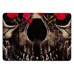 Death and Flowers Samsung Galaxy Tab 8.9  P7300 Flip Case