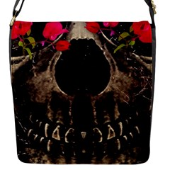 Death and Flowers Flap Closure Messenger Bag (Small)