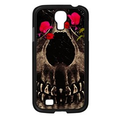 Death And Flowers Samsung Galaxy S4 I9500/ I9505 Case (black)