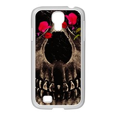 Death and Flowers Samsung GALAXY S4 I9500/ I9505 Case (White)