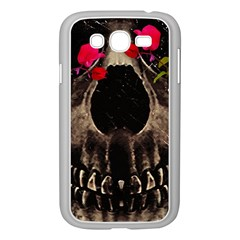 Death And Flowers Samsung Galaxy Grand Duos I9082 Case (white)