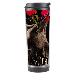 Death and Flowers Travel Tumbler