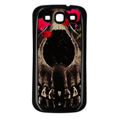 Death and Flowers Samsung Galaxy S3 Back Case (Black)