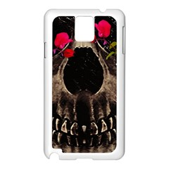 Death and Flowers Samsung Galaxy Note 3 N9005 Case (White)