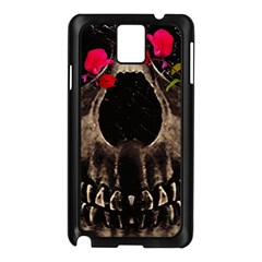 Death And Flowers Samsung Galaxy Note 3 N9005 Case (black)