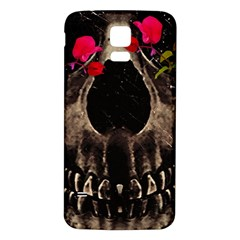 Death and Flowers Samsung Galaxy S5 Back Case (White)
