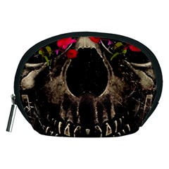 Death And Flowers Accessory Pouch (medium)