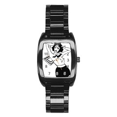 Pin Up Stainless Steel Barrel Watch