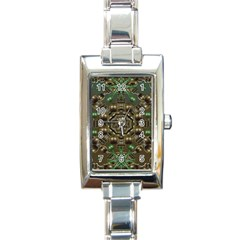 Japanese Garden Rectangular Italian Charm Watch