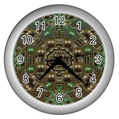 Japanese Garden Wall Clock (silver)