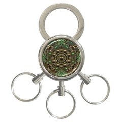 Japanese Garden 3 Ring Key Chain