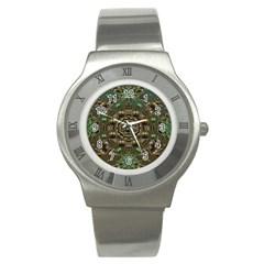 Japanese Garden Stainless Steel Watch (Slim)