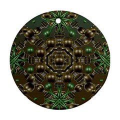 Japanese Garden Round Ornament (Two Sides)