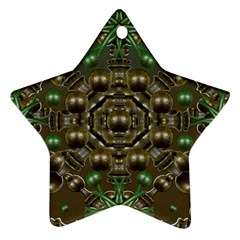 Japanese Garden Star Ornament (Two Sides)