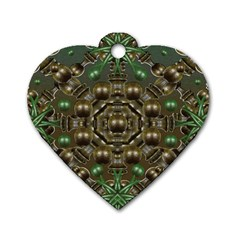 Japanese Garden Dog Tag Heart (Two Sided)