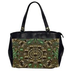 Japanese Garden Oversize Office Handbag (Two Sides)