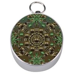 Japanese Garden Silver Compass