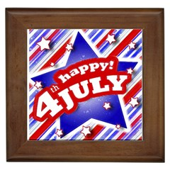 4th Of July Celebration Design Framed Ceramic Tile