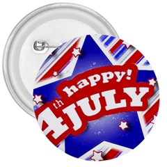 4th of July Celebration Design 3  Button
