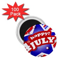 4th Of July Celebration Design 1 75  Button Magnet (100 Pack)