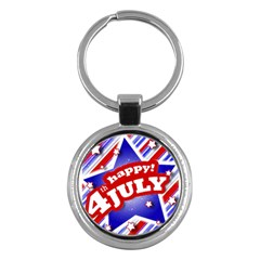 4th of July Celebration Design Key Chain (Round)
