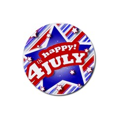 4th of July Celebration Design Drink Coaster (Round)