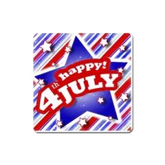 4th Of July Celebration Design Magnet (square)