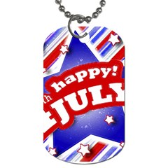 4th Of July Celebration Design Dog Tag (two Sided)