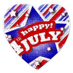 4th Of July Celebration Design Jigsaw Puzzle (heart)
