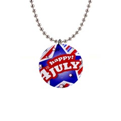 4th Of July Celebration Design Button Necklace