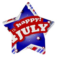 4th Of July Celebration Design Star Ornament (two Sides)