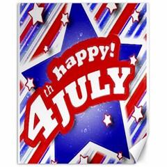 4th Of July Celebration Design Canvas 16  X 20  (unframed)