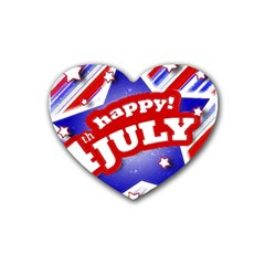 4th of July Celebration Design Drink Coasters 4 Pack (Heart)