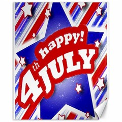 4th Of July Celebration Design Canvas 11  X 14  (unframed)