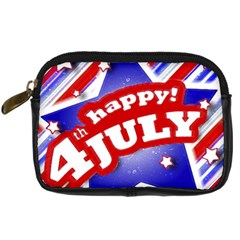 4th Of July Celebration Design Digital Camera Leather Case