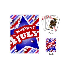4th of July Celebration Design Playing Cards (Mini)
